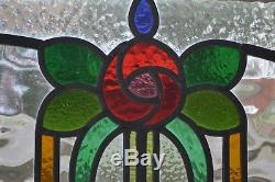 1 British leaded light stained glass window panel. R344i