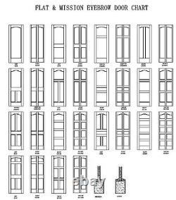 1 Panel Primed Flat Mission Shaker Stile & Rail Solid Core Wood Doors Prehung