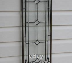 10 x 36 Stunning Tiffany Style stained glass Clear Beveled window panel