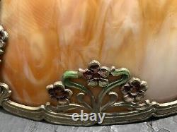 1910 Vtg Stained Glass Lamp Shade Deco Mission Tiffany Style 181/2 8 Panel Lead