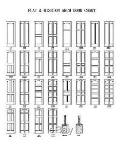 2 Flat Panel Primed Mission Shaker Stile & Rail Solid Core MDF Doors Door Slabs