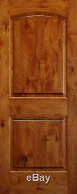 2 Panel Arch Top Knotty Alder Raised Solid Core Interior Wood 6'8 Doors Slabs