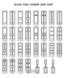 2 Panel Arch Top Poplar Raised Stain Grade Solid Core Wood Doors Interior Door