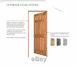 2 Panel Flat Primed Mission Shaker Stile & Rail Solid Core Wood Doors Prehung