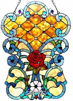 24 Tiffany-glass Victorian Window Panel