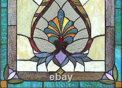 25 VIctorian Designer Tiffany Style Stained Glass Window Panel