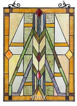 25' x 17.5 Mission Statenent Tffany style Stained Glass Window Panel