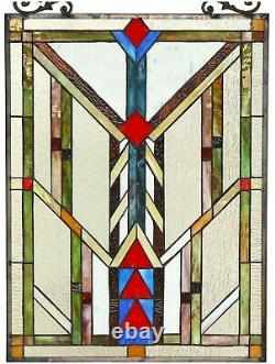 25 x 17.7 Mission Bright Beauty TiffanyStyle Stained glass Window Panel