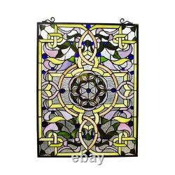 25 x 18 Tiffany-Style Victorian Passion Stained Glass window Panel