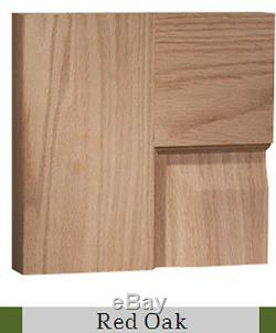 3 Panel Equal Flat Contemporary Shaker Red Oak Solid Core Interior Wood Doors