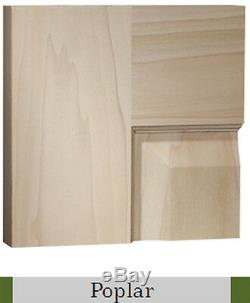 3 Panel Flat Poplar Shaker / Mission Stain Grade Solid Core Interior Wood Doors
