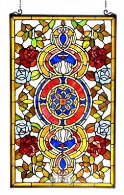 32 Floral Sky Stained Glass Window Tiffany Style Panel