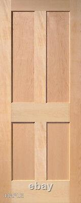 4 Panel Flat Mission Shaker Stain Grade Maple Solid Core Interior Wood Doors
