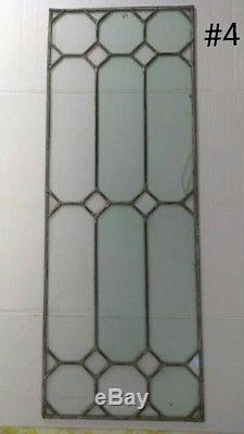 (4) Vintage Stained Glass Window Panels From California Country Estate Sale