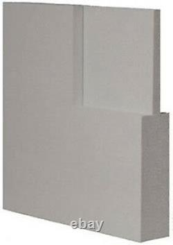 5 Panel Flat Traditional Primed Mission Shaker Stile & Rail Solid Core Wood Door