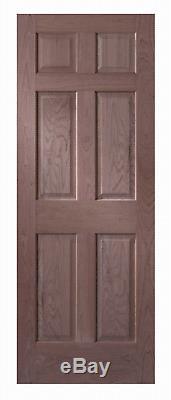6 Panel Raised Cherry Solid Core Stain Grade Stile & Rail Interior Wood Doors