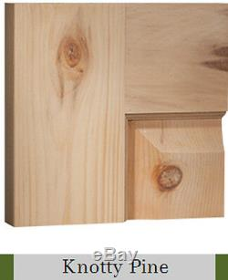 6 Panel Raised Knotty Pine Stain Grade Solid Core Rustic Interior Wood Doors New
