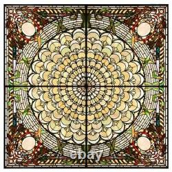 #7673 Library of Congress Stained Glass Ceiling Panel 10' x 10