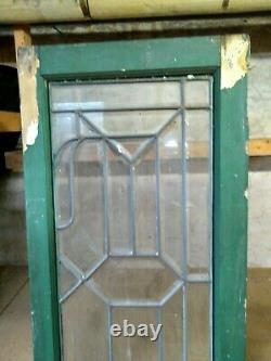 ANTIQUE VTG Beveled Lead Stained Glass Sidelight Window Panels Local Pickup