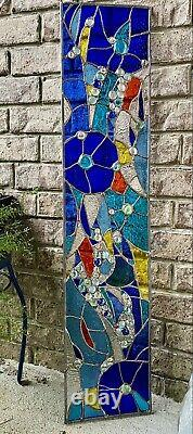 Abstract Stained Glass Transom Panel Window Suncatcher Divider