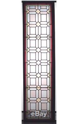 American Victorian Stained and Multicolored Leaded Glass Window Panels