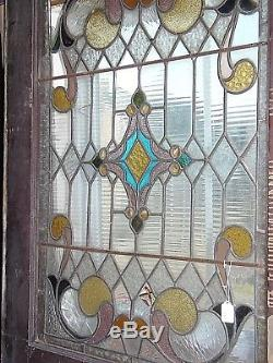 Antique Stain Glass Panel Door for Restoration