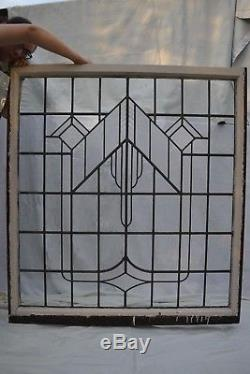 Art deco leaded light stained glass window panel R563a. INSURED SHIPPING OPTION