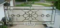 Beautiful Clear Beveled and Stained Glass Window Panel