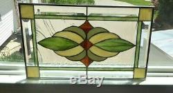 Beautiful Greens Color Stained glass and Beveled Panel