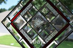 Beveled Stained Glass Window Panel
