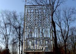 Beveled clear window panel FRANK LLOYD WRIGHT TREE OF LIFE 20.5 x 34.5