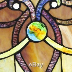 Brandi Collection Stained Glass Panel 26 Inch Decorative Window Hanging