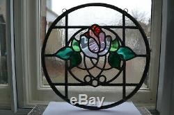 C09. Traditional leaded light stained glass window door panel made new your size