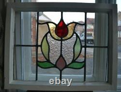 C10. Traditional leaded light stained glass window door panel made new your size