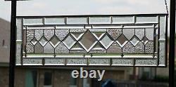 CLARITY Beveled Stained Glass Window Panel-Sidelight /Transom-40 1/2 x 12