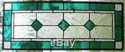 CLASSIC STYLE 23-1/2 x 10-1/4 stained glass window panel hangs 2 ways