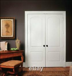 Caiman 2 Panel Arch Top Primed Solid Core Interior Molded Wood Composite Doors