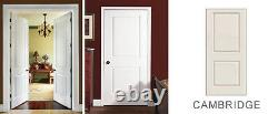 Carrara 2 Panel Square Primed Smooth Solid Core Molded Wood Composite Doors