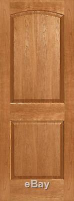 Cherry 2 Panel Arch Top Raised Panels Stain Grade Solid Core Interior Wood Doors