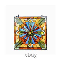 Chloe Lighting Emma Tiffany-Glass Window Panel 24