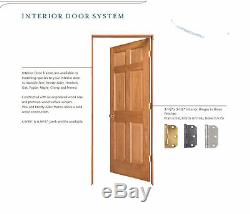 Clear Pine 5 Panel Flat Mission Shaker StainGrade Solid Core Interior Wood Doors