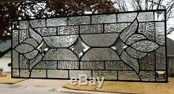 Clear Victorian Stained Glass Window Panel Clear Elegance