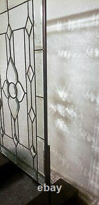 Clearly Stylish 28 5/8 x 16 3/4 Beveled Stained Glass Window Panel