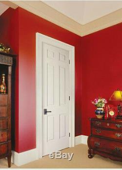 Colonist 6 Panel Primed Molded Solid Core Wood Grain Textured Interior Doors