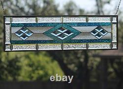Color is Power Beveled Stained Glass Window Panel-Sidelight/Transom 3 ft