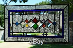 Contemporary Beveled Stained Glass Window Panel