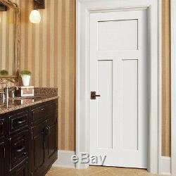 Craftsman 3 Panel Primed Smooth Solid Core Molded Wood Composite Interior Doors