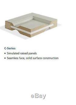 Custom Carved 4 Panel Half Circles Raised Panel Primed Solid Core Interior Doors