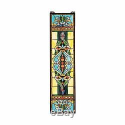Design Toscano Blackstone Hall Stained Glass Window Hanging Panel 35 Inch New