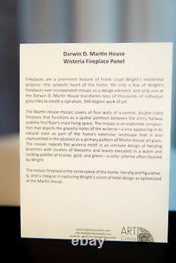 Ebros Frank Lloyd Wright D. D. Martin House Wisteria Wide Wall Panel 14